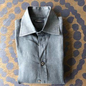 Men's Burberry Linen Shirt - 15 neck 38 chest